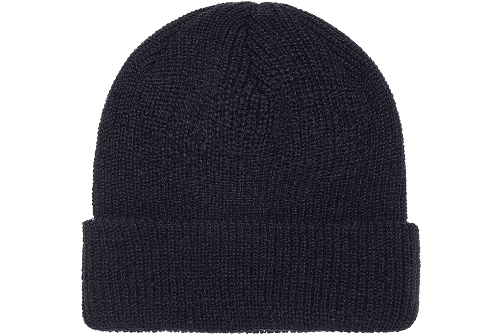 Tuque Ribbed Cuffed Black Flexfit