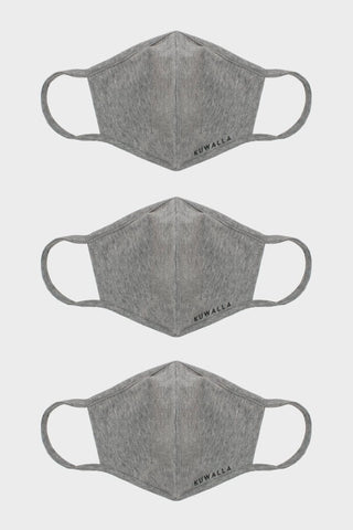Masque Paquet de 3 Heather Grey Kuwalla Tee