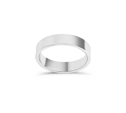 Bague 5mm Band Argent Twenty Compass
