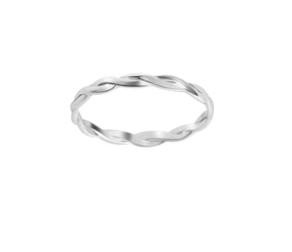 Bague Braided Argent Twenty Compass