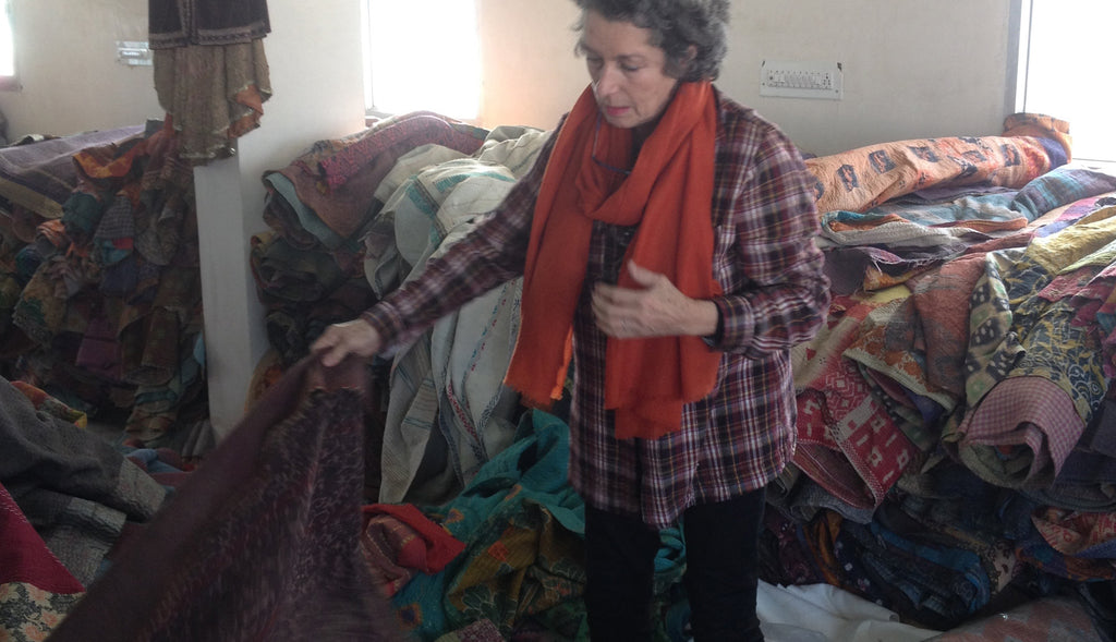 Choosing Kantha fabric
