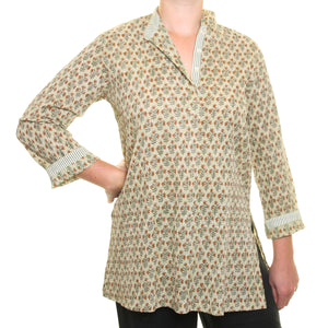 Pintuk Cotton Top - Olive