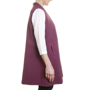 Sleeveless No Wings Jacket - Aubergine