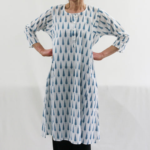 Kurta / nightdress - Blue Cypress