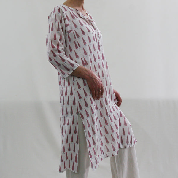 Kurta / nightdress - Pink Cypress