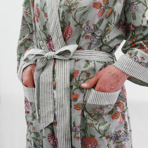 Dressing Gown - Grey print
