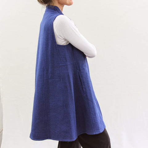 Sleeveless No Wings Jacket - Blue