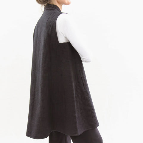 Sleeveless No Wings Jacket - Black