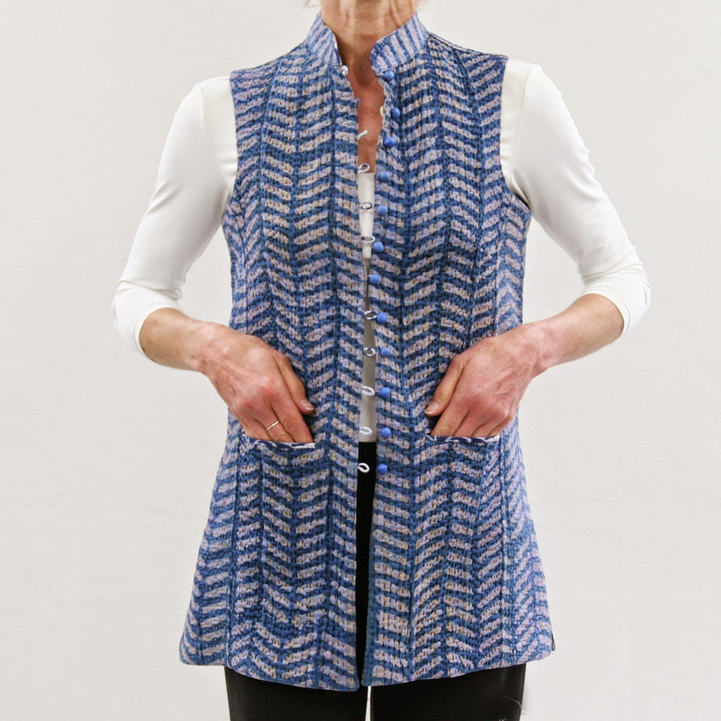 Cotton Kanta Sharwani Sleeveless & Reversible Jacket