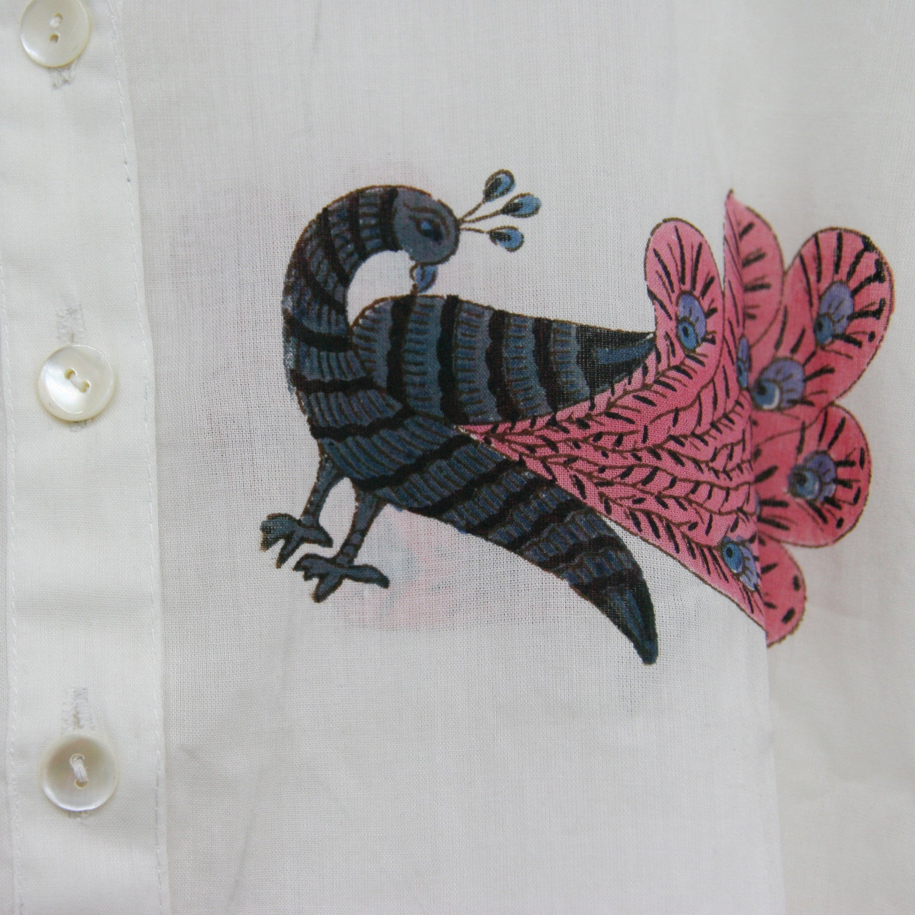 Kurta / nightdress - Dancing Peacock Pink