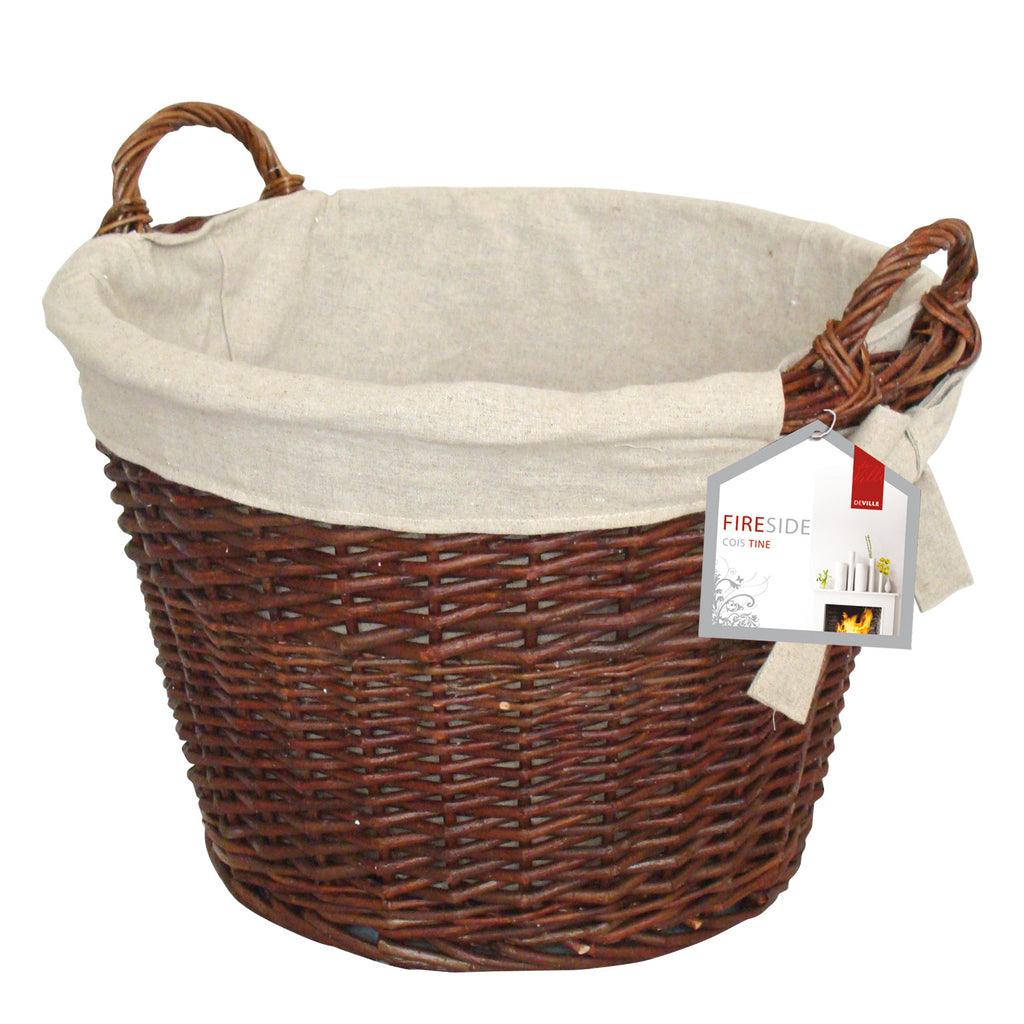 ROUND WICKER BASKET DEV577