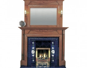 Solid Oak Balmoral and Overmantle