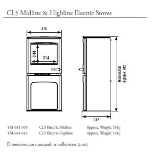 CL5 Electric Midline Stove 2
