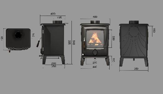 Cougar 5 Multi Fuel Stove 3