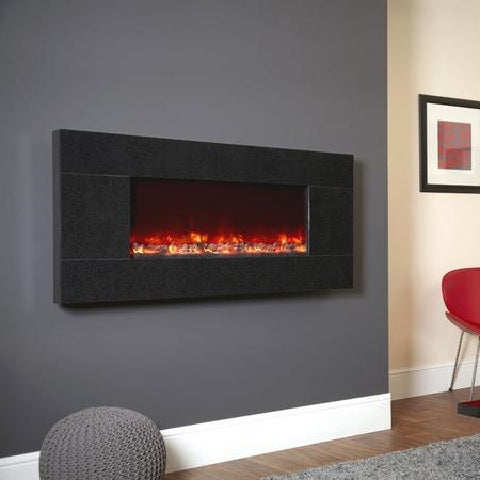 Electriflame Basalt Granite Wall Mounted Electric Fire