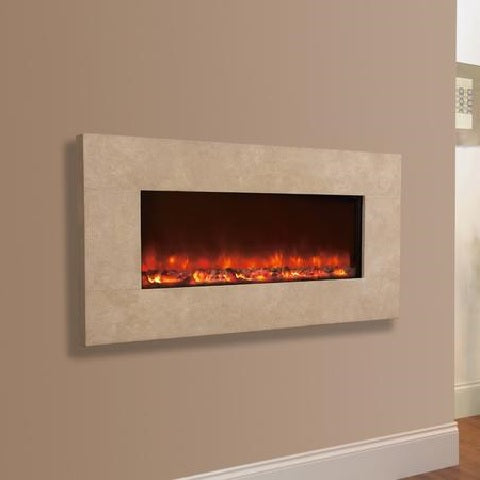 Electriflame Travertine Wall Mounted Electric Fire