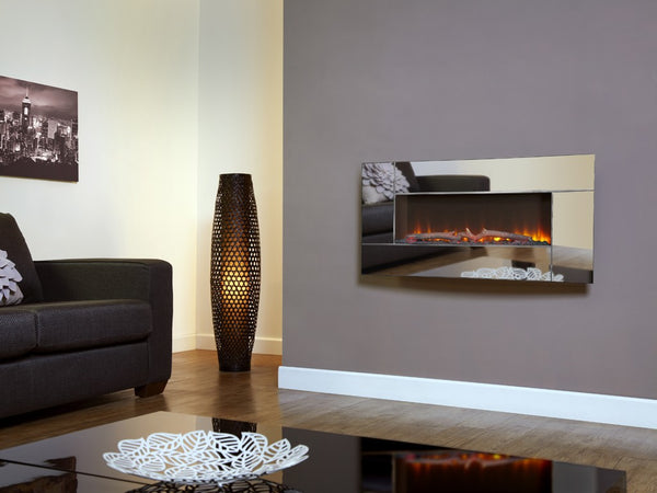 Flamonik Mirror wall mounted electric fire