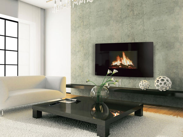 Puraflame Curved wall mounted electric fire