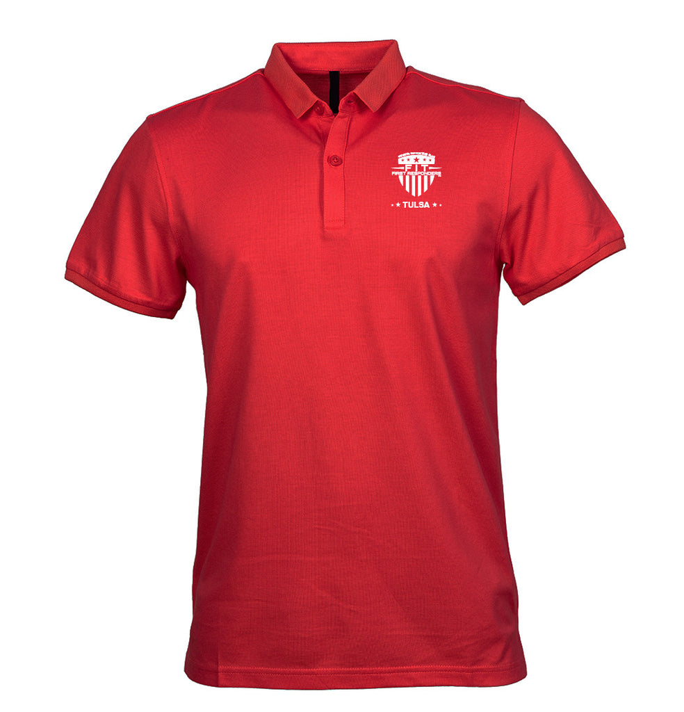 Adult FFR - Red Golf T-Shirt