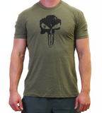 Men's T-Shirt </br> Skull - Military Green
