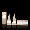 Maple Wood and White Aluminum Trophy Suite Figura by Trophyology