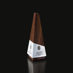 Walnut Unique Design for Geometria Obeliscus Trophy