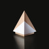Contemporary Wooden Award Geometria Pyramis Trophy in Maple