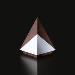 Unique Wooden Trophy Walnut Geometria Pyramis Design