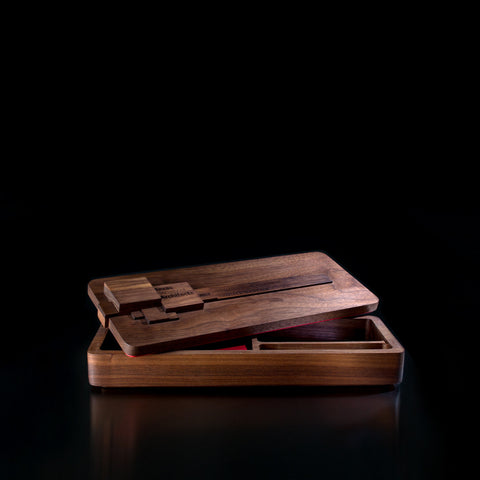 Handmade Unique Walnut Stationery Box Corporate Gift