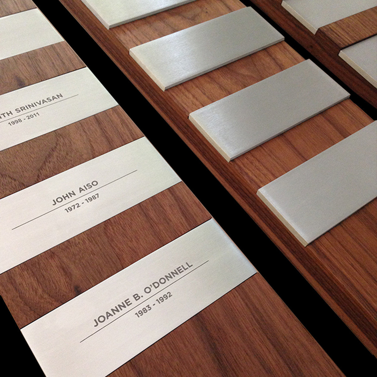 Custom Modern Perpetual Plaque Wall Installation for O'Melveny & Myers