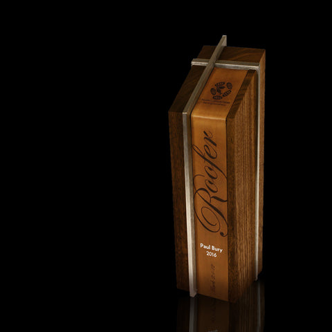 Handcrafted Wood, Metal and Leather Modern Award for Mobile Loaves & Fishes