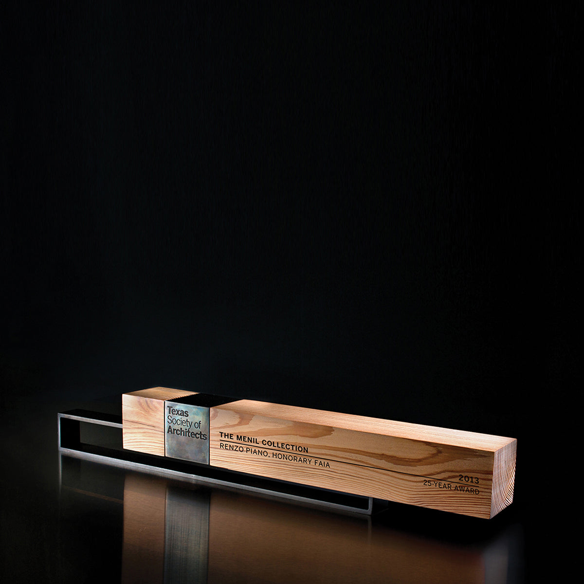 Custom Handmade Contemporary Trophy for Texas Society of Architects