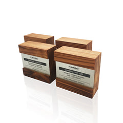 Reclaimed Wood Eco Award Trophies Handcrafted Engraved Metal