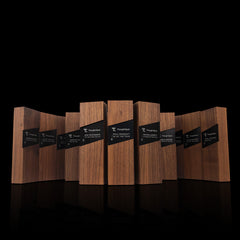 Elegant Modern Corporate Recognition Awards Wood Metal Engraved