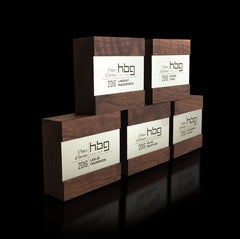 Engraved Corporate Employee Recognition Award Wood Metal