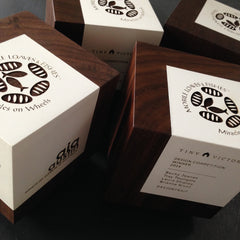 Engraved wooden unique modern minimalist awards