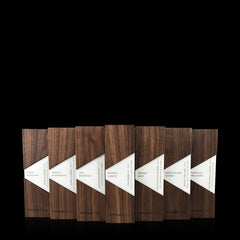 Geometric Modern Wood and Aluminum Business Award Trapezium by Trophyology