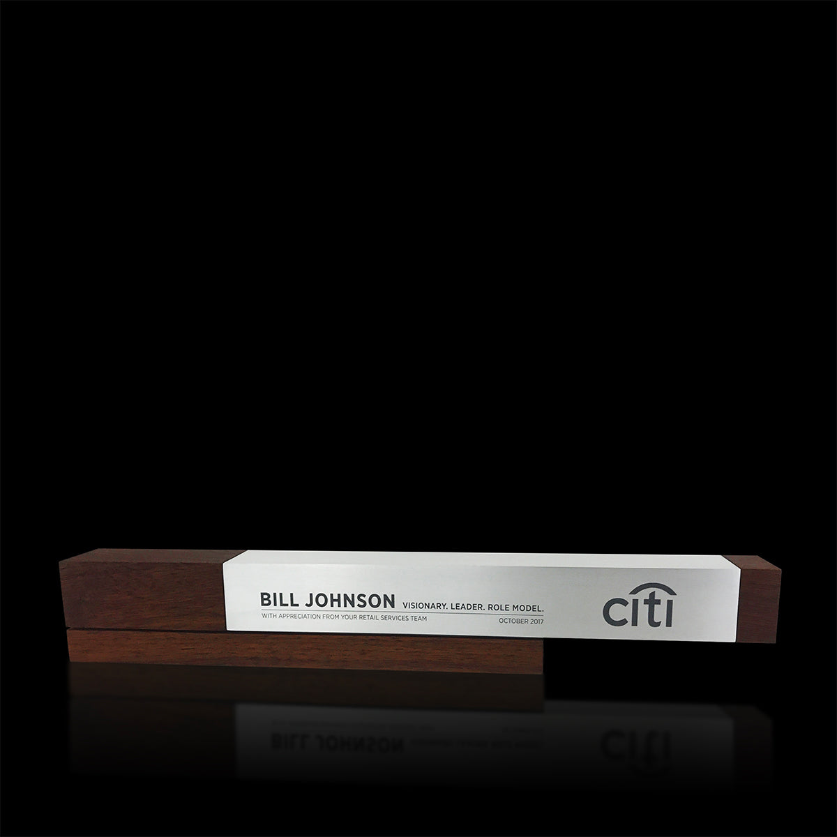 Modern Corporate Executive Award Wood Metal Fulgeo