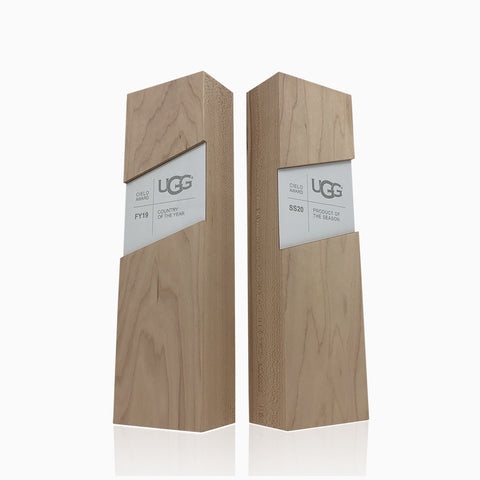 Modern Eco Team Recognition Trophy Awards Engraved Personalized_UGG