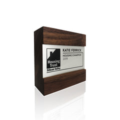 Modern Wooden Award Trophies for Team Recognition Awards