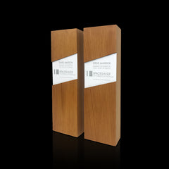 Reclaimed Wood Eco Award Trophies as Board Member Gift