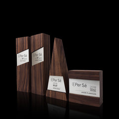 Unique Contemporary Appreciation Wooden Engraved Trophy Awards