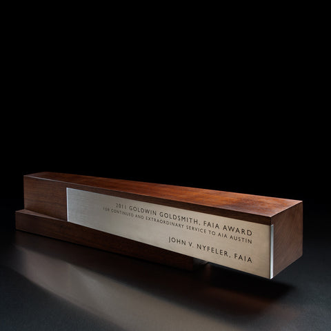 Arris Executive Trophy | Unique Wood and Metal Trophy Design