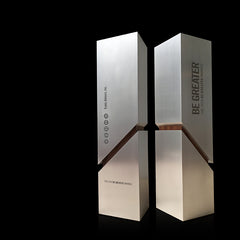 Unique Be Greater Custom Trophy for Fidelity Investments_Engraved Metal