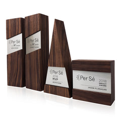 Unique Wooden Metal Trophy Plaque Collection Modern Designer Awards