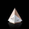 Decisive Geometric Maple Pyramid Trophy Award for Intuit