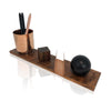 Modern Walnut and Copper Desk Accessory Gift Set for Bridesmaids and Groomsmen
