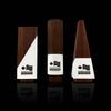 Custom Engraved Designer Walnut Wooden Award Trio Suite