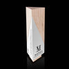 Designer Geometric Laser Engraved Maple Wooden Award for Marsh Furniture Company