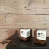 Modern creative designer trophies wood engraved for Mell Lawrence Architects AIA Austin